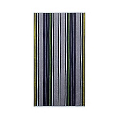 Home Collection - Navy stripe print beach towel