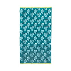 Ben de Lisi Home - Green cactus print beach towel