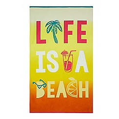 Home Collection - Orange 'Life Is A Beach' leisure towel