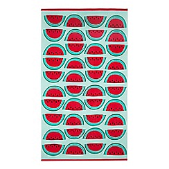Home Collection - Aqua watermelon print leisure towel