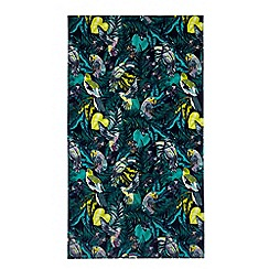 Butterfly Home by Matthew Williamson - Green botanical print beach towel