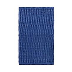 J by Jasper Conran - Blue waffle bath mat