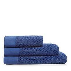 J by Jasper Conran - Navy waffle towel
