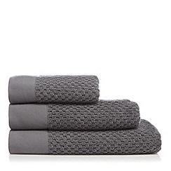 J by Jasper Conran - Dark grey waffle towel