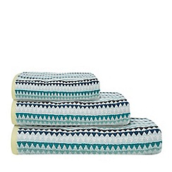 Ben de Lisi Home - Pale blue triangle print towel