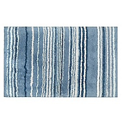 Home Collection - Blue striped bath mat