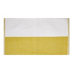 Home Collection - Yellow colour block bath mat