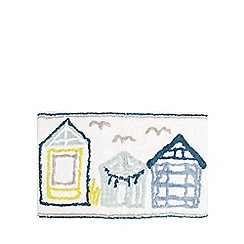 Home Collection - Multi-coloured beach hut bath mat