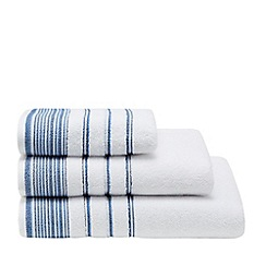 Home Collection - Blue pleated trim towel