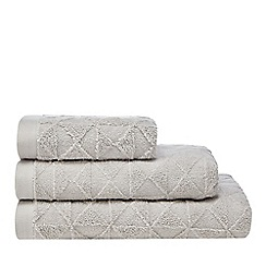 Home Collection - Grey textured geometric extra large towel