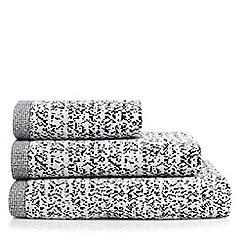 Ben de Lisi Home - Black monochrome ombre pixel towel