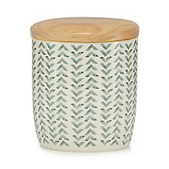 Home Collection - Green geometric print storage jar