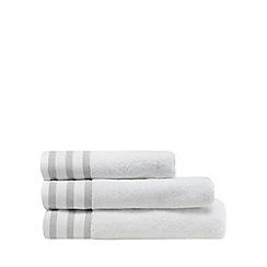 J by Jasper Conran - White striped border towel