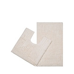 Christy - Bath mat and pedestal set