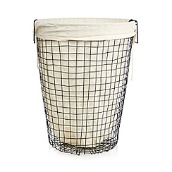 Ben de Lisi Home - Black wire laundry basket