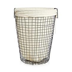 Ben de Lisi Home - Black wire laundry basket