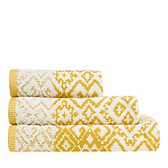 Butterfly Home by Matthew Williamson - Yellow jacquard towel