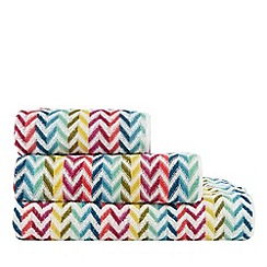 Home Collection Basics - Multi-coloured striped hand towel