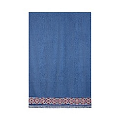 Butterfly Home by Matthew Williamson - Blue woven hem towel