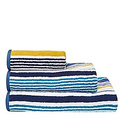 Christy - Blue and green striped hand towel