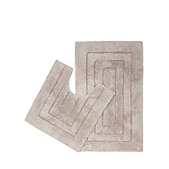 Home Collection - Grey pedestal and bath mat set