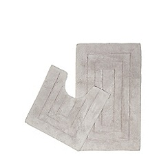 Home Collection - Light grey pedestal and bath mat set