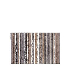 Home Collection - Grey striped bath mat