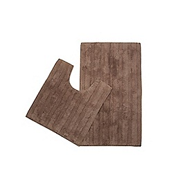 Home Collection - Light brown pedestal and bath mat set