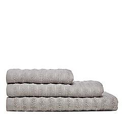 J by Jasper Conran - Silver 'Dulwich' stripe bath towel