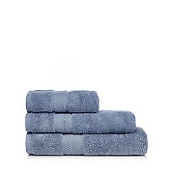 J by Jasper Conran - Blue border striped towel