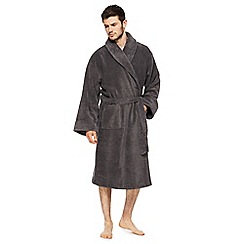 J by Jasper Conran - Dark grey dressing gown
