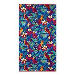 Butterfly Home by Matthew Williamson - Multi-coloured tropical bird print beach towel