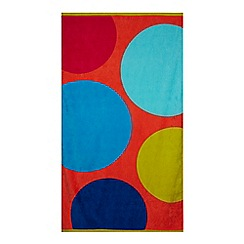 Home Collection - Multi-coloured spotted beach towel