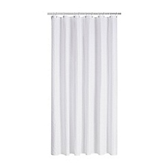 Home Collection - White Hastings seersucker shower curtain