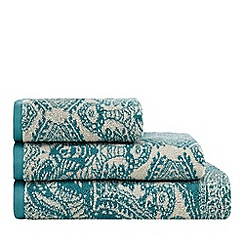 Butterfly Home by Matthew Williamson - Turquoise mandala print towel