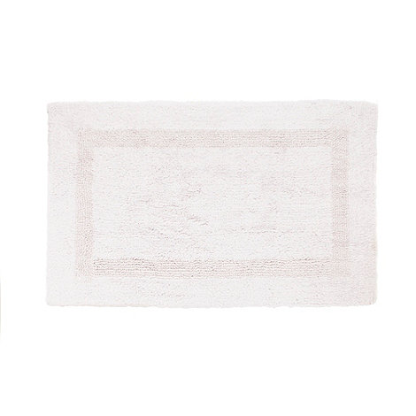 Debenhams - Pale pink luxury reversible bath mat