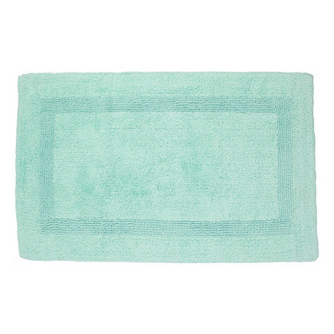 Debenhams - Pale green luxury reversible bath mat