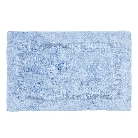 Debenhams - Blue luxury reversible bath mat