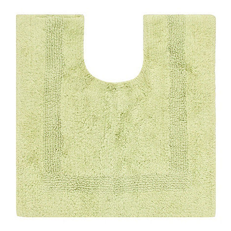 Debenhams - Lime luxury reversible pedestal mat