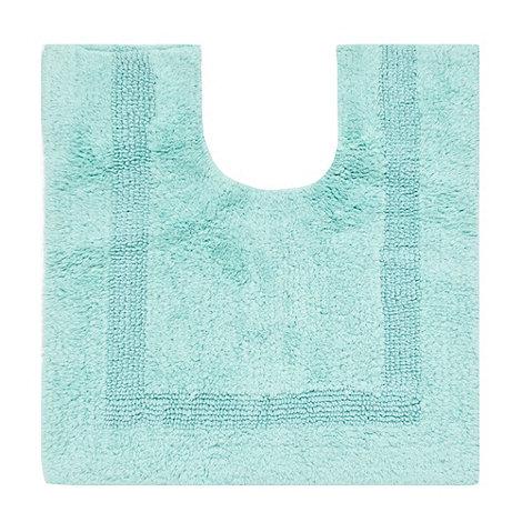 Debenhams - Pale green luxury reversible pedestal mat