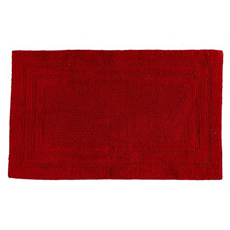 Home Collection - Dark red luxury reversible bath mat
