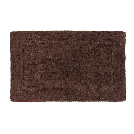 Debenhams - Brown reversible bath mat