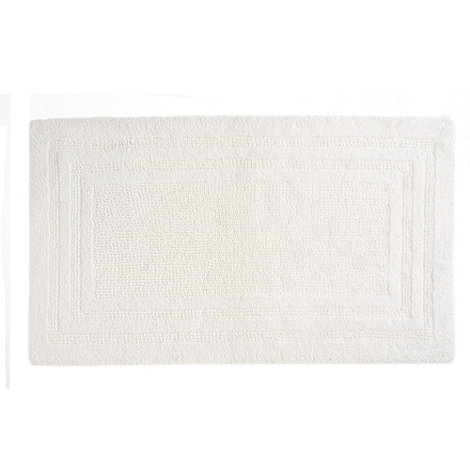 Debenhams - White luxury reversible bath mat