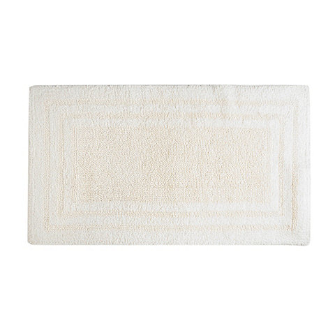 Debenhams - Cream luxury reversible bath mat