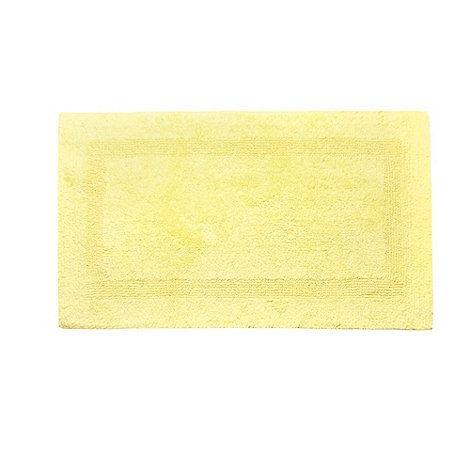 Home Collection - Bright yellow luxury reversible bath mat