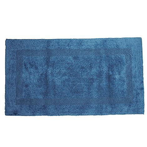 Debenhams - Blue luxury reversible bathmat