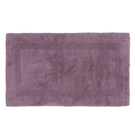 Debenhams - Mauve reversible bath mat