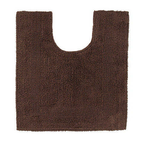Home Collection - Brown pedestal bath mat