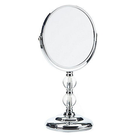 Home Collection - Silver decorative pedestal mirror