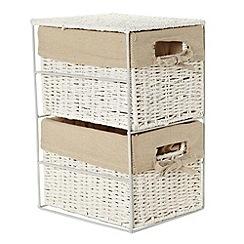 Debenhams - White rope two-drawer storage set